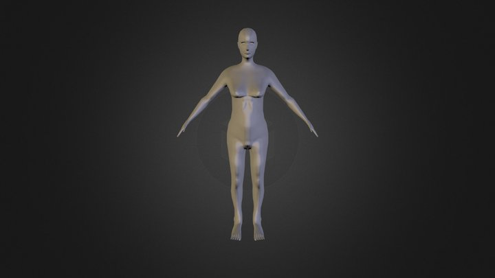Sketchfab Female Mesh Export4 3D Model