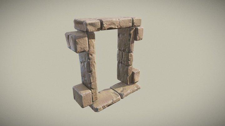 Stone Ancient Window / Door Frame (PBR) 3D Model