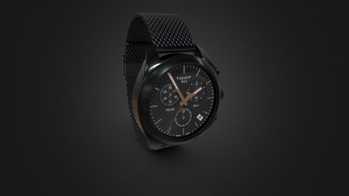 PR 100 Chronograph Watch 3D Model