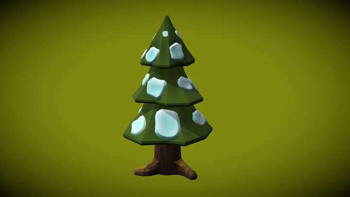 Stylized Tree for game 3D Model