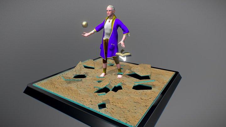 Mage Elf, (quick character creation) 3D Model