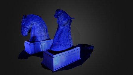 Kelpies by Night 3D Model