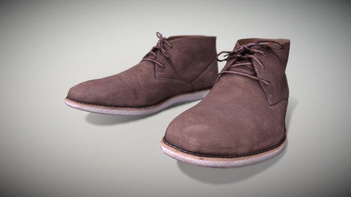 Clarks Men Boots - Photoscanned PBR 3D Model