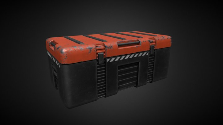 Sci Fi Crate Open Animation 3D Model