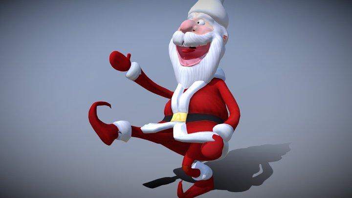 3DRT - Crazy Santa - dancing - loops 3D Model
