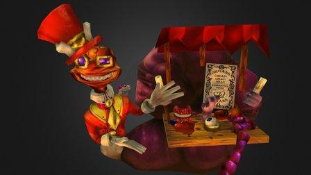 Merchant In Game Model 3D Model