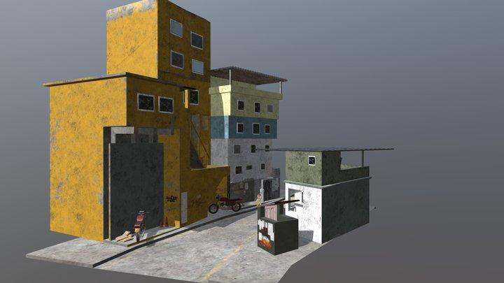 Street Scene Rio Favela 3D Model