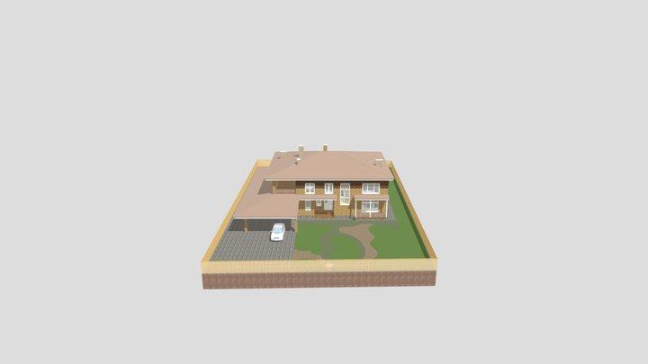 ЛОМОНОСОВ вар 3 - Итог 3D Model