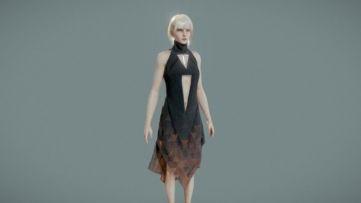 Scifi Girl v.01 3D Model