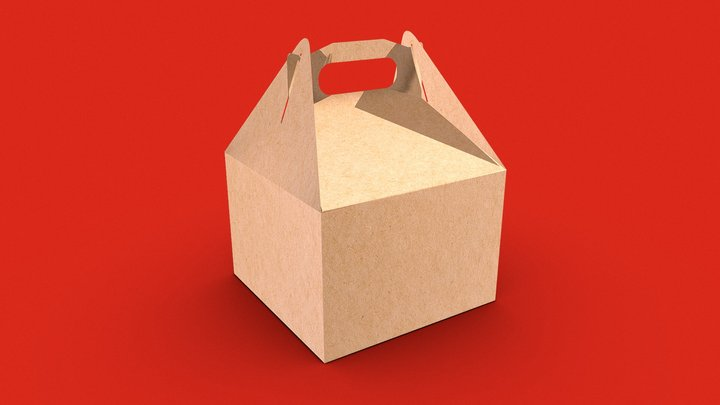 Happy Meal fast food package 3D Model