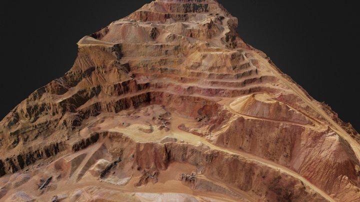 Quartzite quarry 3D Model