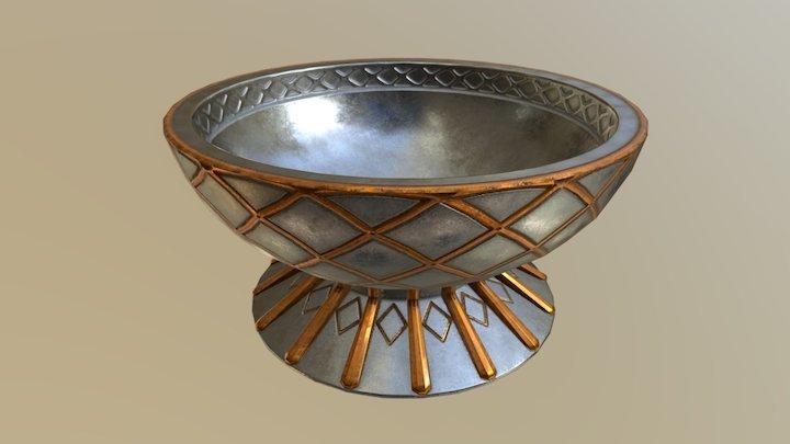 Silver bowl 3D Model