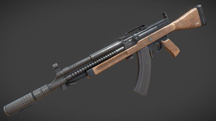 Madsen LAR - Finnish army trials. 3D Model