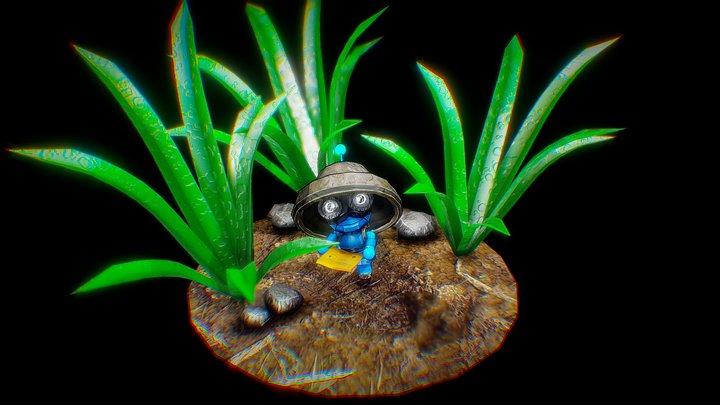 Treasure Bot 3D Model