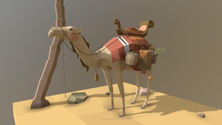 low poly camel 3D Model