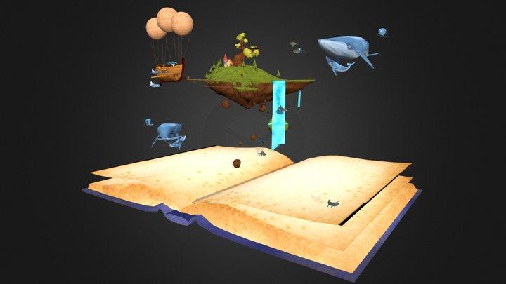 The magic book 3D Model