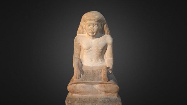 Scribe statue of Amunhotep, Son of Nebiry 3D Model