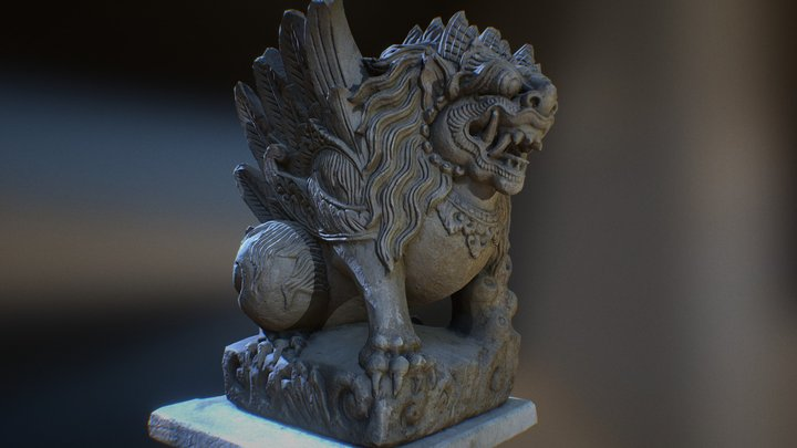 Bali-statue-017 3D Model