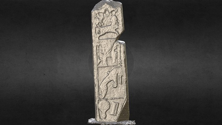Maiden Pictish Symbol Stone Cross Slab Inverurie 3D Model