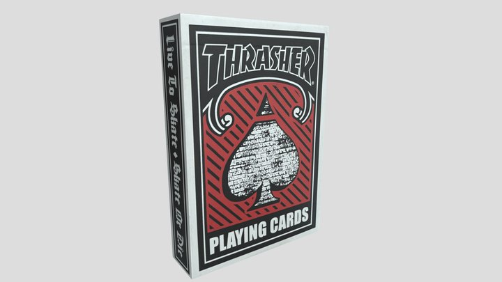 Thrasher Playing Cards 3D Model