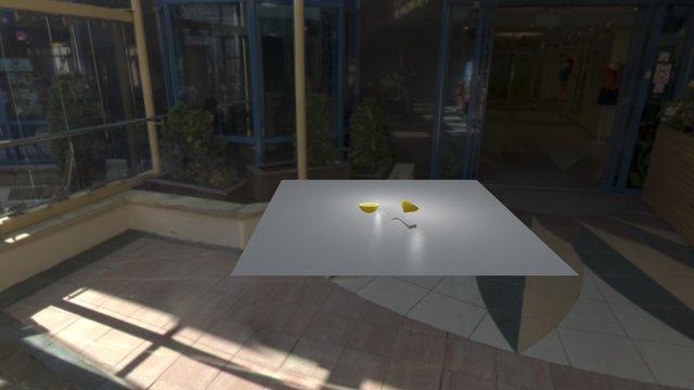 Lemon Cut In Half Animation 3D Model