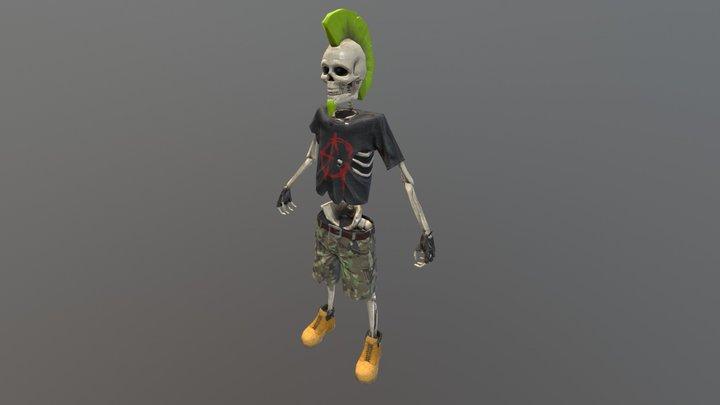 Punk skeleton T stance 3D Model
