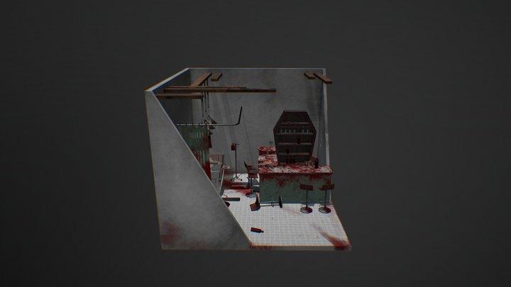 AS1 Faster Food diorama 3D Model