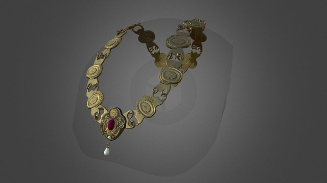 Josephine Necklace - Complete 3D Model
