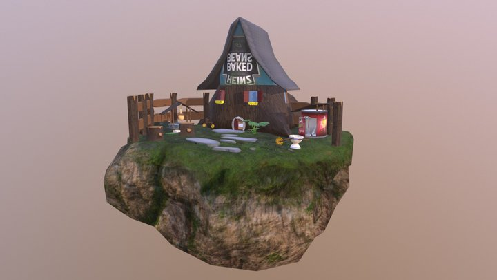 Gnome House Environment Island 3D Model