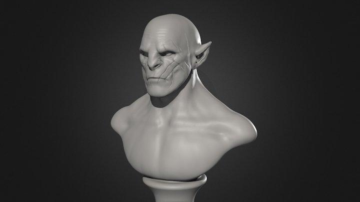 Azog bust likeness study 3D Model