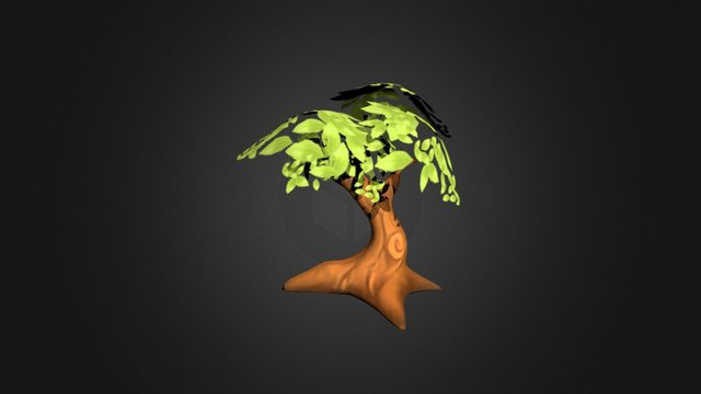 Hand Painted Tree 3D Model