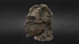 Ancient Large Broken Statue Head - Low Poly 3D Model