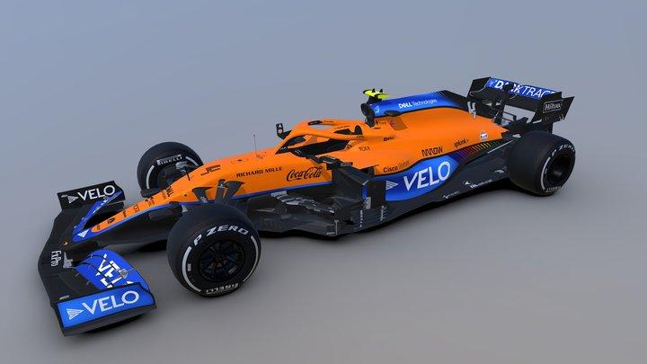 F1 2021 McLaren MCL35M 3D Model