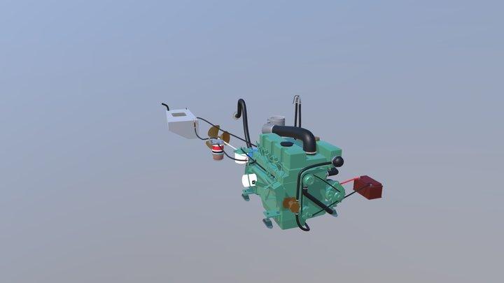 The Virtual Sailing School Engine 3D Model