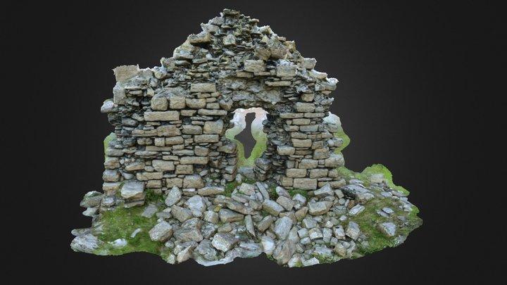 Stáid Abbey Wall 3D Model