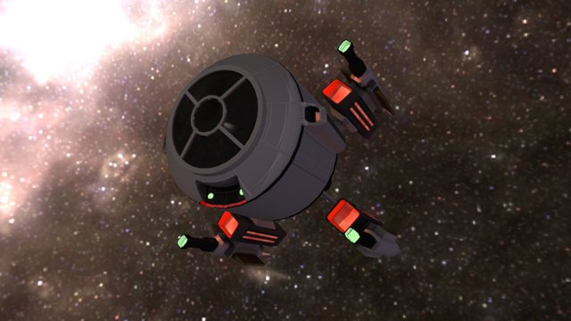 Space fighther ship for Space Combat 3D Model