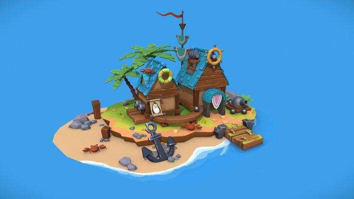 Sea House (Penguin island) 3D Model