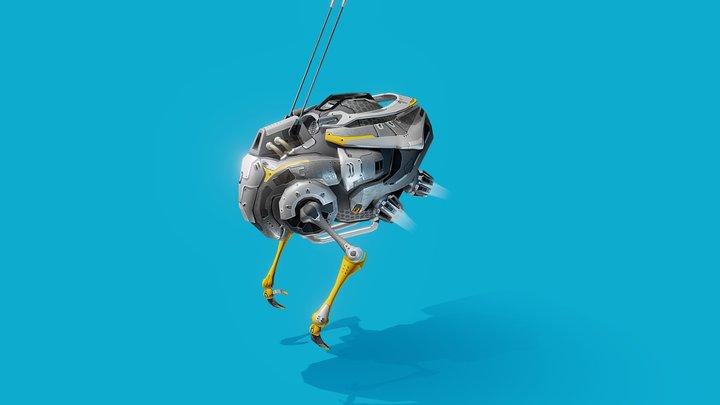 Worker 12 3D Model
