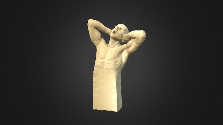 Hombre Gritando 3D Model