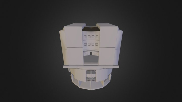 ESO VLT Unit telescope dome 3D Model