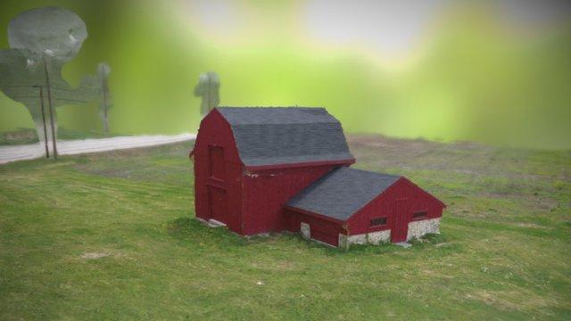 Hollis Woodmont Barn 3D Textured Mesh 3D Model