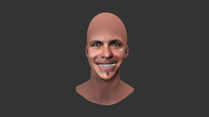 Pitbull - Facesoft Reproduction 3d Model 3D Model