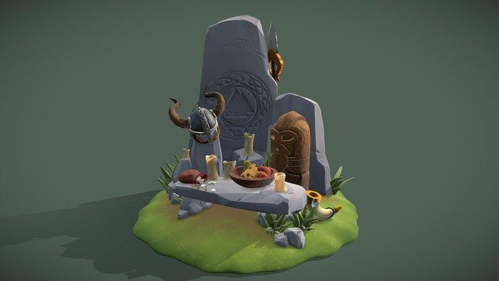 DS Diorama Viking Altar 3D Model