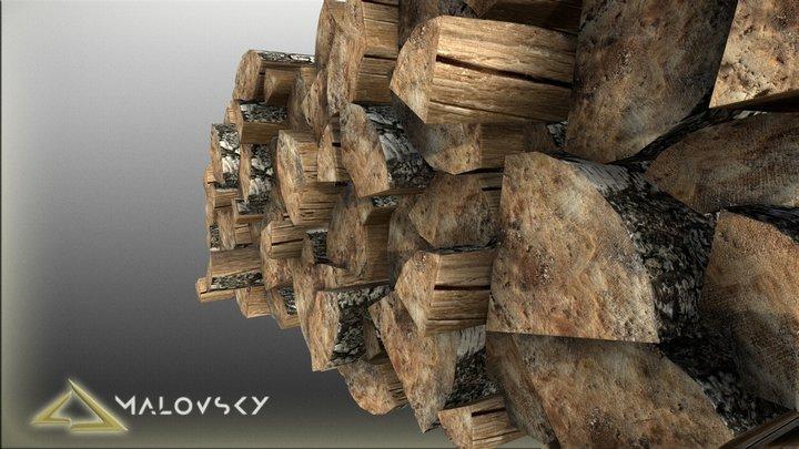 Masonry of firewood 3D Model