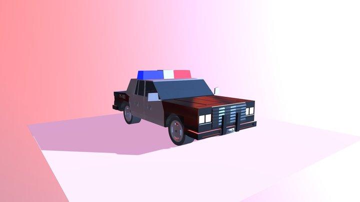 Cop car 3D Model