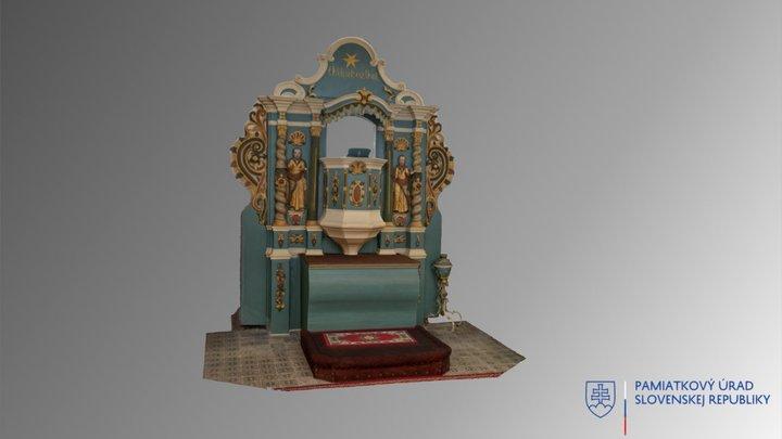 Ardovo - kazateľnicový oltár 3D Model