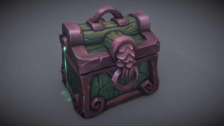 Dungeon Chest 3D Model