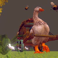 Goose Wagon 3D Model