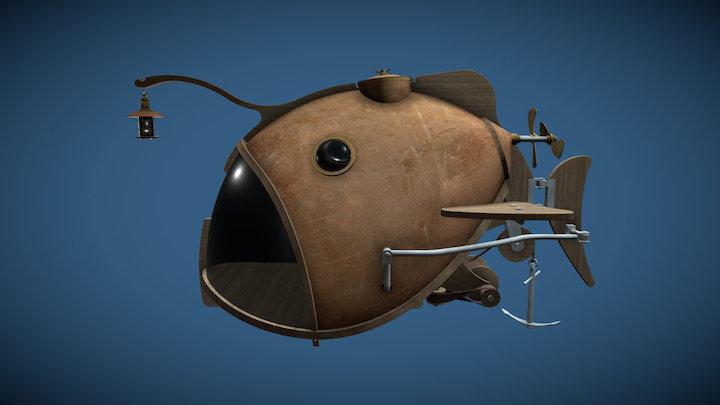 Submarine Monkfish 3D Model