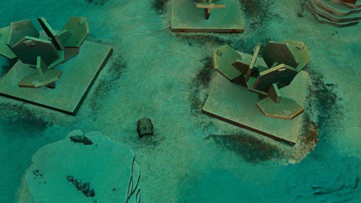 Artificial reef REXCOR, Marseilles, 2017 3D Model